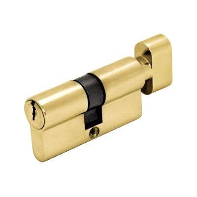 Цилиндр DIN ключ/завертка SCHLOSS (30+30) S 60 M золото
