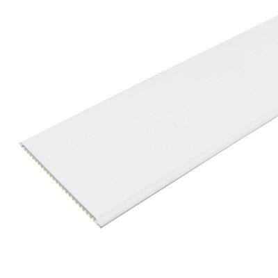 Панель ПВХ 2700х250х8мм Белая матовая (уп=10шт=6,75м2)