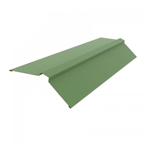 Конек Угловой для Металлочерепицы Стандарт Полиэстер (RAL 6005 зеленый мох) 2м.