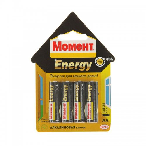 Батарейка МОМЕНТ ENERGY тип ААА (4шт)