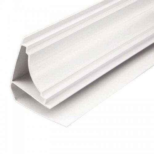 Плинтус потолочный, для панелей ПВХ, 3 м, ПВХ, белый