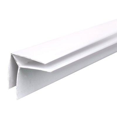 Угол наружный, для панелей ПВХ, 3 м, ПВХ, белый