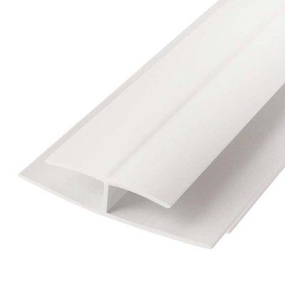 Планка H, соединительная, для панелей ПВХ, 3 м, ПВХ, белая