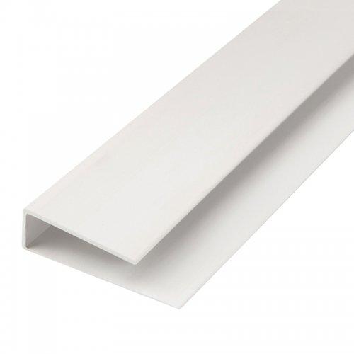 Планка L, стартовая/финишная, для панелей ПВХ, 3 м, ПВХ, белая