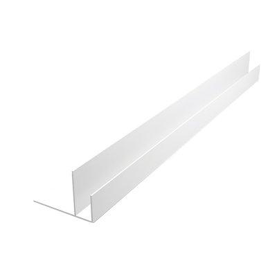 Планка F, стартовая, торцевая, для сэндвич панелей 10 мм, 3 м, белая