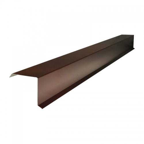 Планка Торцевая для Профлиста (RAL 8017) корич. шоколад (2 м)