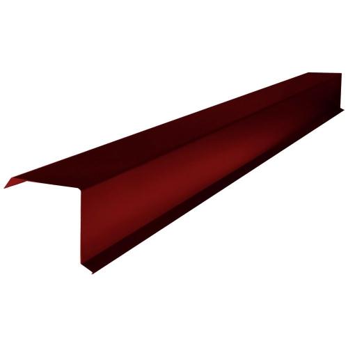 Планка торцевая для Металлочерепицы (RAL 3011) коричнево-красный (2 м)
