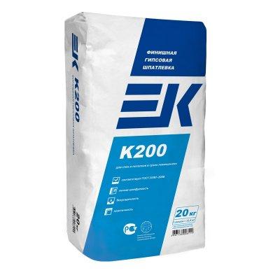Шпатлевка финишная гипсовая EK K200 (20кг)