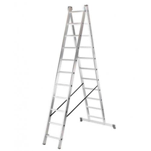 Лестница алюминиевая двухсекционная ЛА 2х11 Вихрь