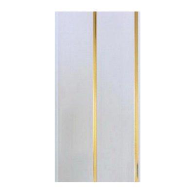 Панель ПВХ потолочная 2-а секц. 3000х250х7,5мм Золото (уп=10шт=7,5м2)