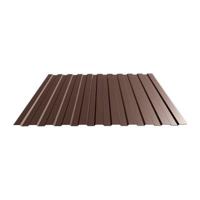 Профнастил С8 1,2х2 м 0,5 мм коричневый RAL 8017