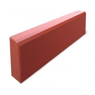 Бордюр красный 500х210х65