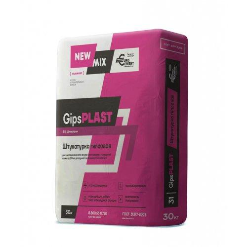 Штукатурка гипсовая ручного и машинного нанесения «GipsPLAST» (30кг)