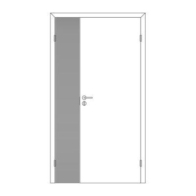 Полотно дверное Олови М3х21 Серое крашенное RAL7040 отв. часть, глухое