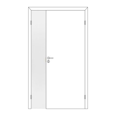 Полотно дверное Олови М3х21 Белое крашеное отв. часть, глухое