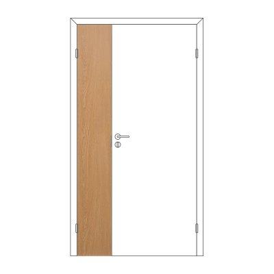 Полотно дверное Олови М3х21 ламинат Дуб ответка часть 3D с/п