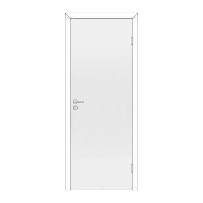 Полотно дверное Олови М9х21 Белое крашенное, глухое