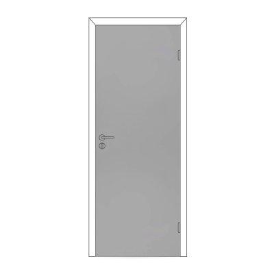 Полотно дверное Олови М9х21 Серое RAL7040 крашенное, глухое