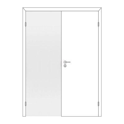 Полотно дверное Олови М8х21 Белое крашеное отв. часть, глухое
