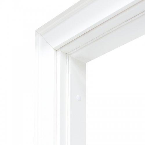 Коробка дверная Олови 3D Белая комплект М10 970х74х30 мм