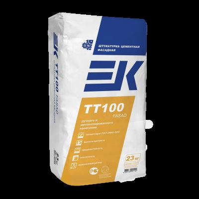 Штукатурка цементная машинного и ручного нанесения ЕК TT100 FASAD (23кг)