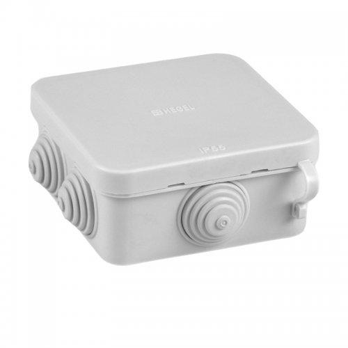 Коробка разветвительная о/у, 100х100х55(50)мм, IP54, с гермовводами