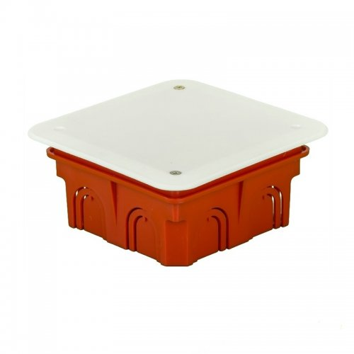 Коробка разветвительная с/у д/сплошных стен 102х102х50мм с крышкой