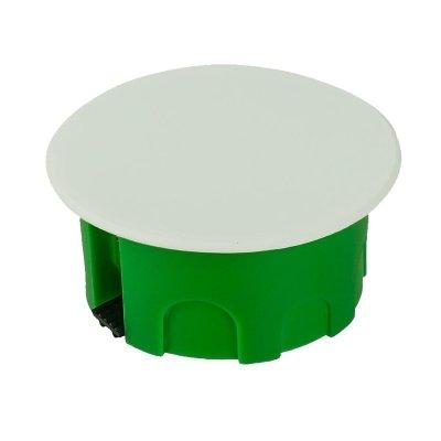 Коробка разветвительная с/у д/полых стен d=86мм, h=45мм, пл.зажим, с крышкой
