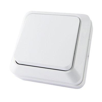 Выключатель одноклавишный белый 10А