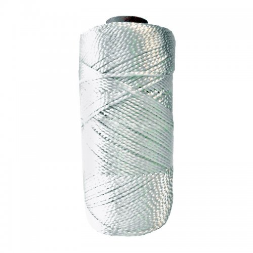 Нить капроновая (полимамидная) крученая 1мм белая (250 м)