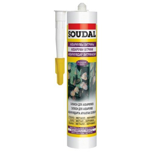 Герметик для аквариумов бесцветный Soudal 300мл