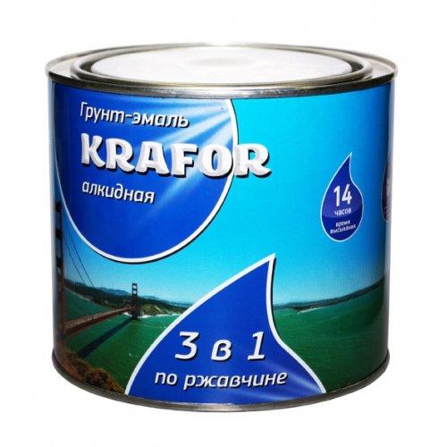 Грунт-эмаль по ржавчине 3 в 1 Серая (1,9кг) Krafor