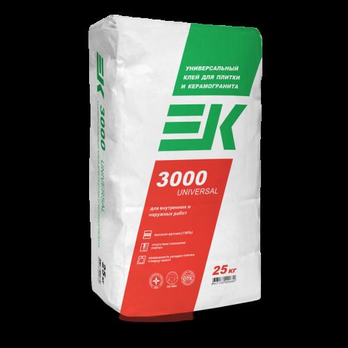 Клей для плитки и керамогранита ЕК 3000 UNIVERSAL (25кг)