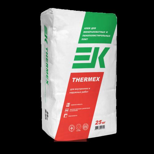 Клей для минераловатных и пенополистерольных плит EK THERMEX (25кг)